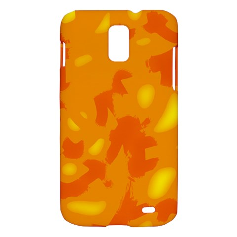 Orange decor Samsung Galaxy S II Skyrocket Hardshell Case