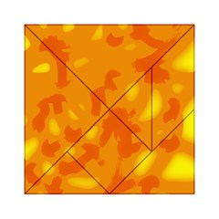 Orange decor Acrylic Tangram Puzzle (6  x 6 )
