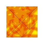 Orange decor Acrylic Tangram Puzzle (4  x 4 ) Front