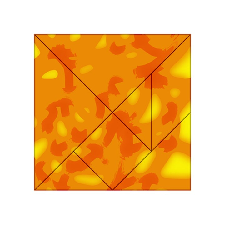 Orange decor Acrylic Tangram Puzzle (4  x 4 )