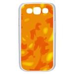 Orange decor Samsung Galaxy S III Case (White) Front
