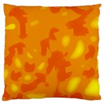 Orange decor Large Cushion Case (One Side) Front