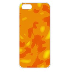 Orange decor Apple iPhone 5 Seamless Case (White)