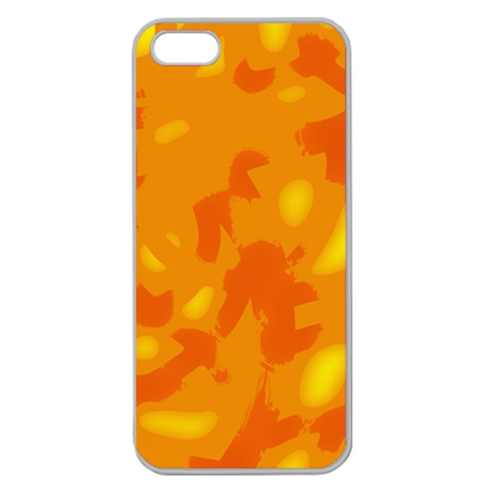 Orange decor Apple Seamless iPhone 5 Case (Clear)