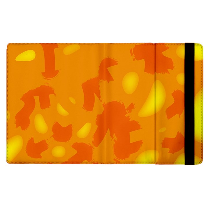 Orange decor Apple iPad 2 Flip Case