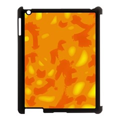 Orange Decor Apple Ipad 3/4 Case (black)