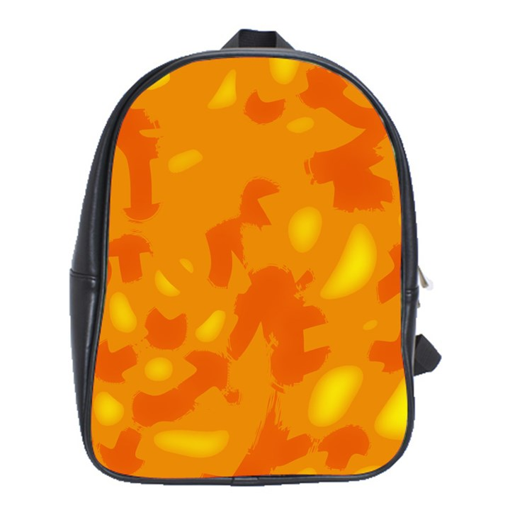 Orange decor School Bags (XL)