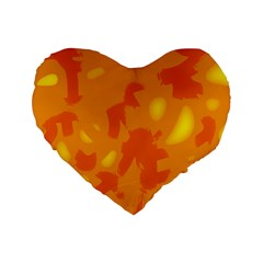 Orange decor Standard 16  Premium Heart Shape Cushions