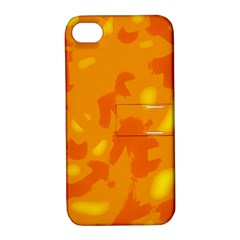 Orange Decor Apple Iphone 4/4s Hardshell Case With Stand
