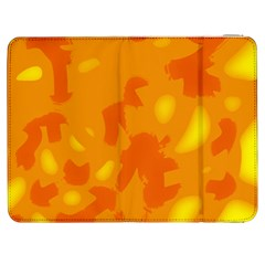 Orange decor Samsung Galaxy Tab 7  P1000 Flip Case