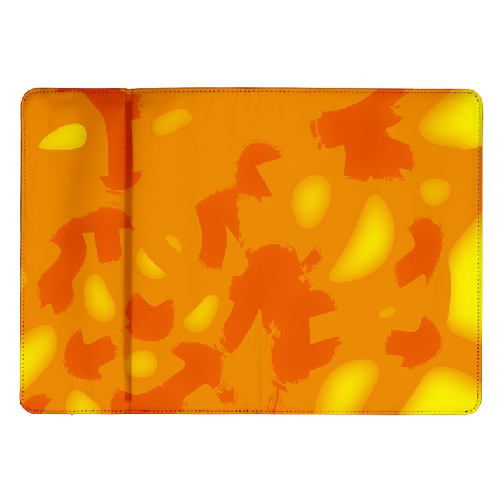 Orange decor Samsung Galaxy Tab 10.1  P7500 Flip Case