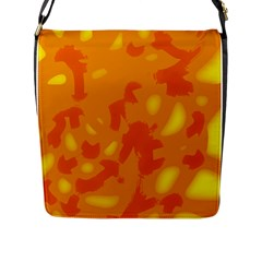 Orange decor Flap Messenger Bag (L)