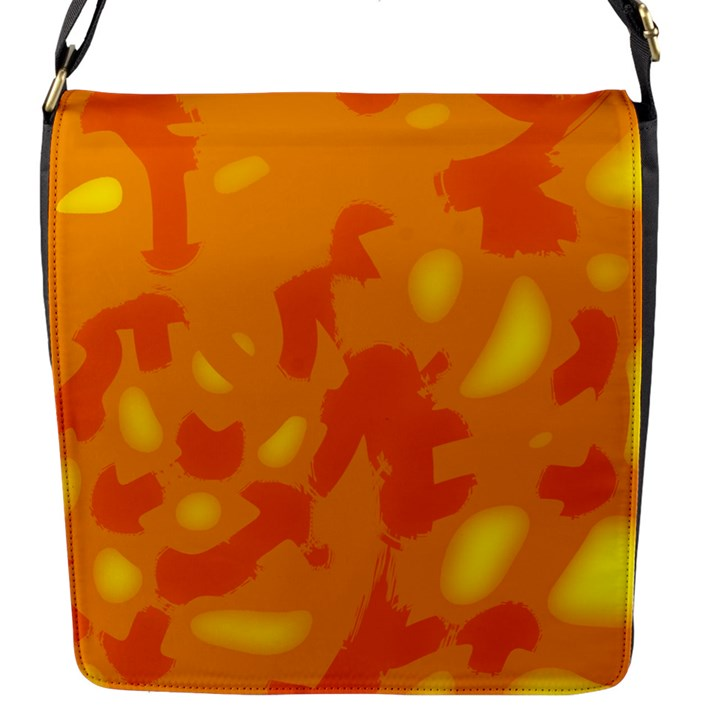 Orange decor Flap Messenger Bag (S)