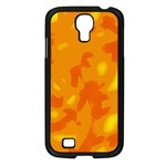Orange decor Samsung Galaxy S4 I9500/ I9505 Case (Black) Front
