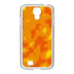 Orange decor Samsung GALAXY S4 I9500/ I9505 Case (White)