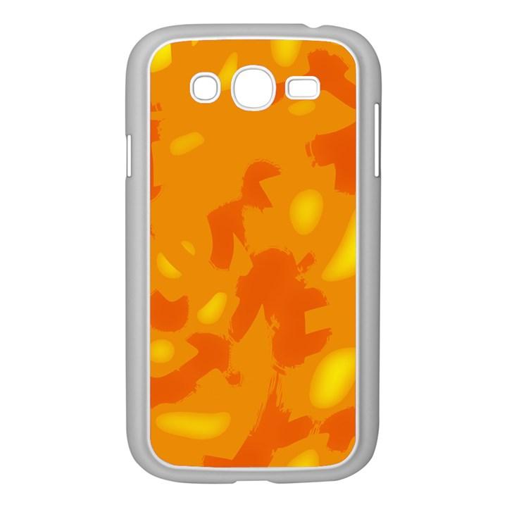 Orange decor Samsung Galaxy Grand DUOS I9082 Case (White)