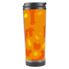 Orange decor Travel Tumbler