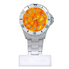 Orange Decor Plastic Nurses Watch