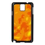 Orange decor Samsung Galaxy Note 3 N9005 Case (Black) Front