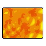 Orange decor Double Sided Fleece Blanket (Small)  50 x40 Blanket Front