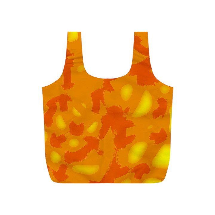 Orange decor Full Print Recycle Bags (S)