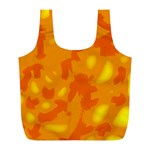 Orange decor Full Print Recycle Bags (L)  Front