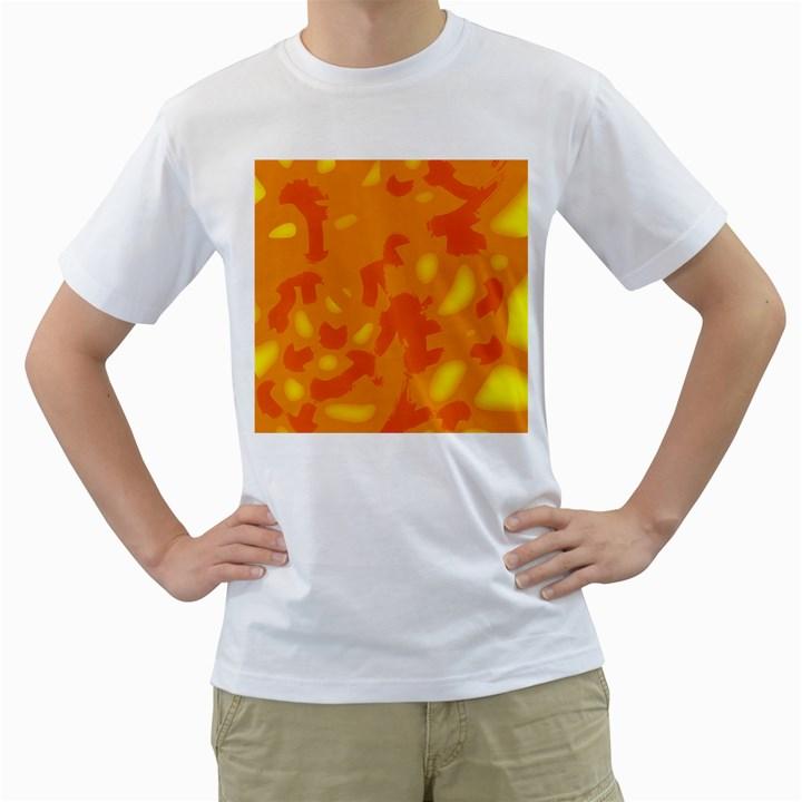 Orange decor Men s T-Shirt (White)