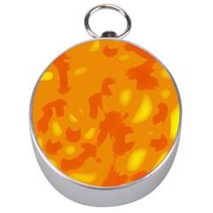Orange decor Silver Compasses