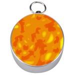 Orange decor Silver Compasses Front