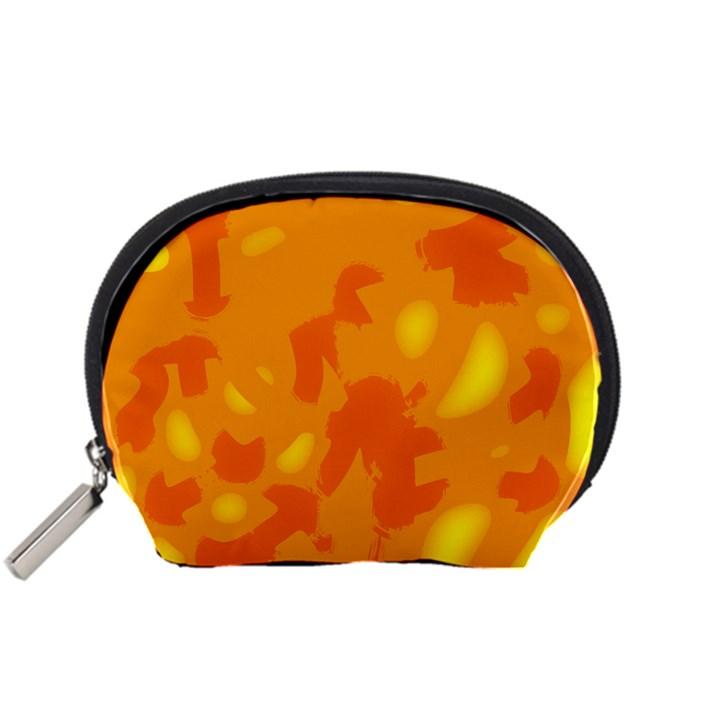 Orange decor Accessory Pouches (Small)