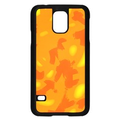 Orange decor Samsung Galaxy S5 Case (Black)