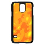 Orange decor Samsung Galaxy S5 Case (Black) Front