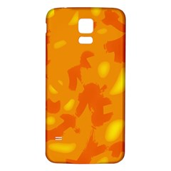 Orange Decor Samsung Galaxy S5 Back Case (white)