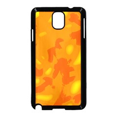 Orange decor Samsung Galaxy Note 3 Neo Hardshell Case (Black)