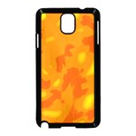 Orange decor Samsung Galaxy Note 3 Neo Hardshell Case (Black) Front