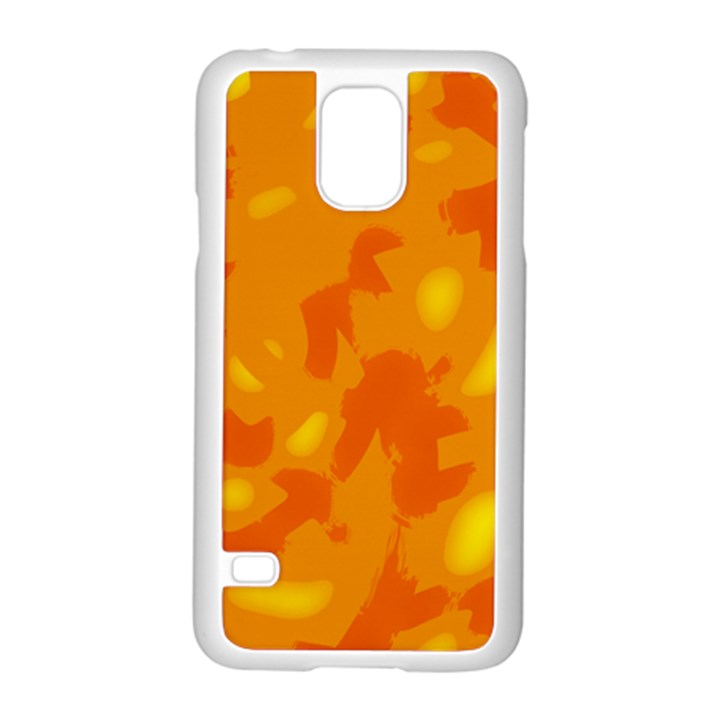 Orange decor Samsung Galaxy S5 Case (White)