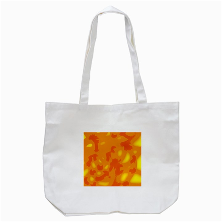 Orange decor Tote Bag (White)