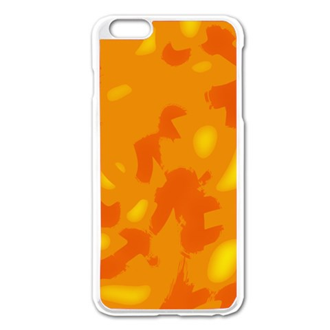 Orange decor Apple iPhone 6 Plus/6S Plus Enamel White Case