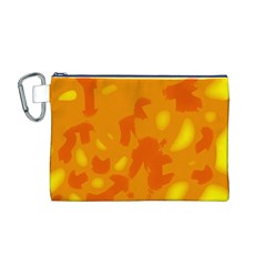 Orange decor Canvas Cosmetic Bag (M)