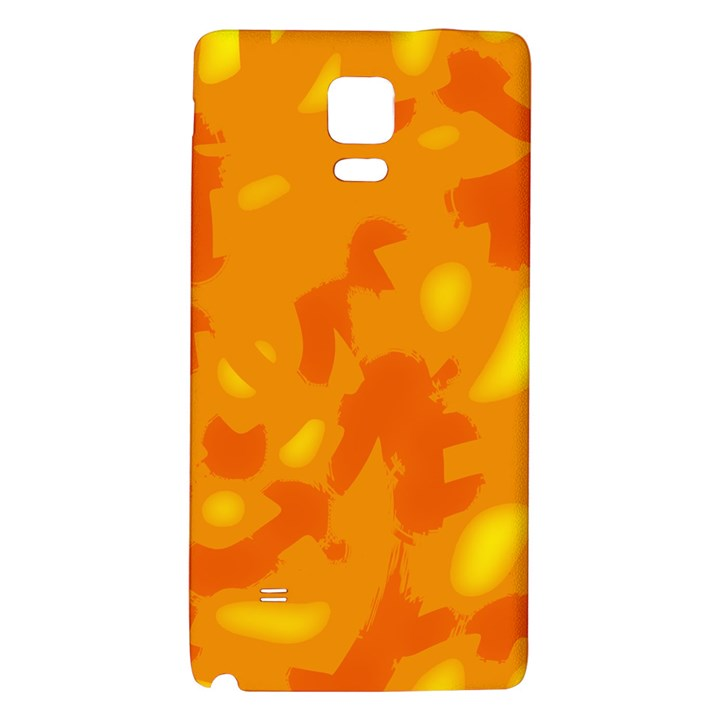 Orange decor Galaxy Note 4 Back Case