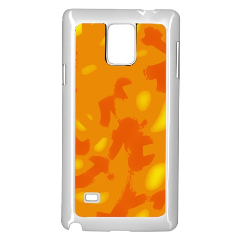 Orange decor Samsung Galaxy Note 4 Case (White)