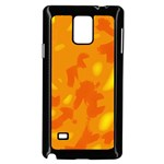 Orange decor Samsung Galaxy Note 4 Case (Black) Front