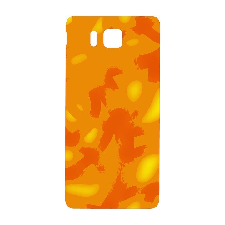 Orange decor Samsung Galaxy Alpha Hardshell Back Case