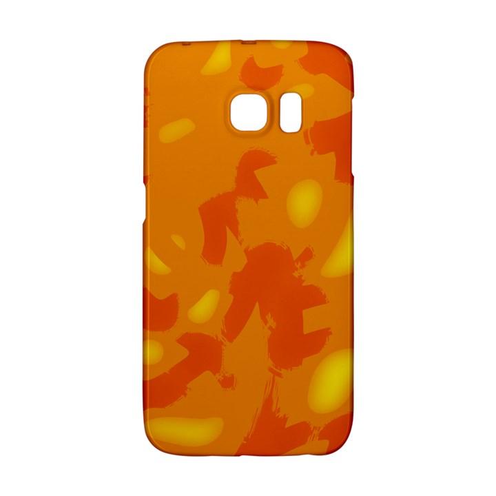 Orange decor Galaxy S6 Edge