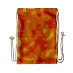 Orange decor Drawstring Bag (Small) Front
