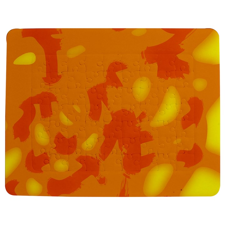 Orange decor Jigsaw Puzzle Photo Stand (Rectangular)