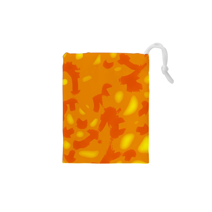 Orange decor Drawstring Pouches (XS)
