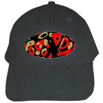 Red artistic design Black Cap Front