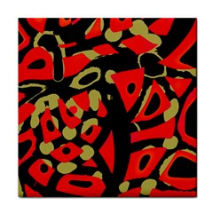 Red Artistic Design Tile Coasters