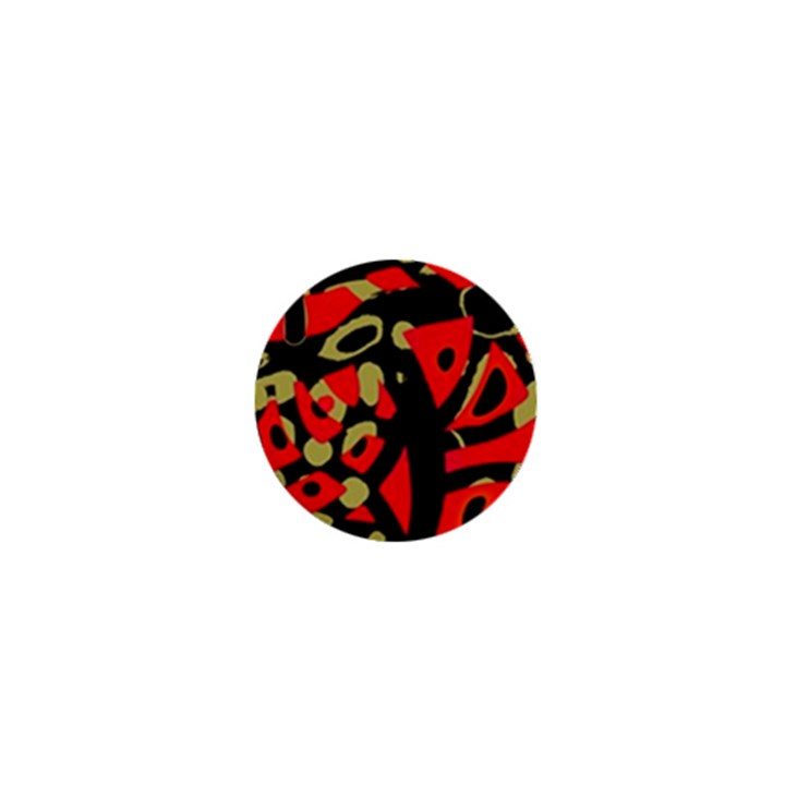 Red artistic design 1  Mini Buttons